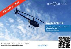 Dárkový poukaz na vyhlídkový let vrtulníem BrnoHeliTour vzor 1